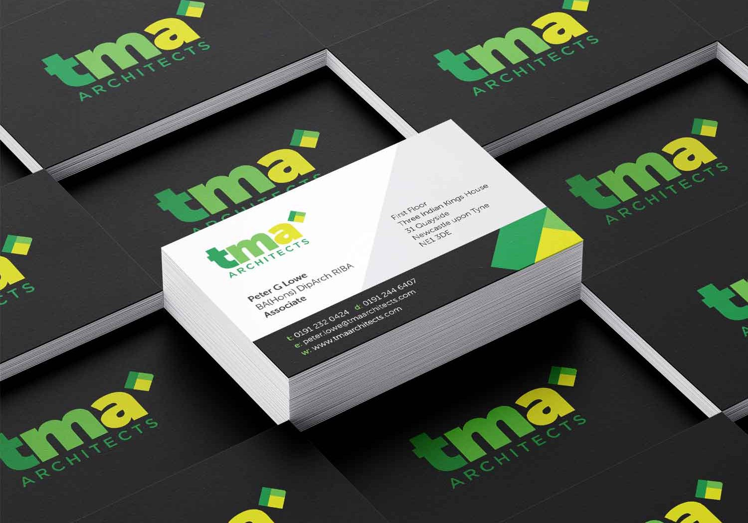 TMA Business Cards Green