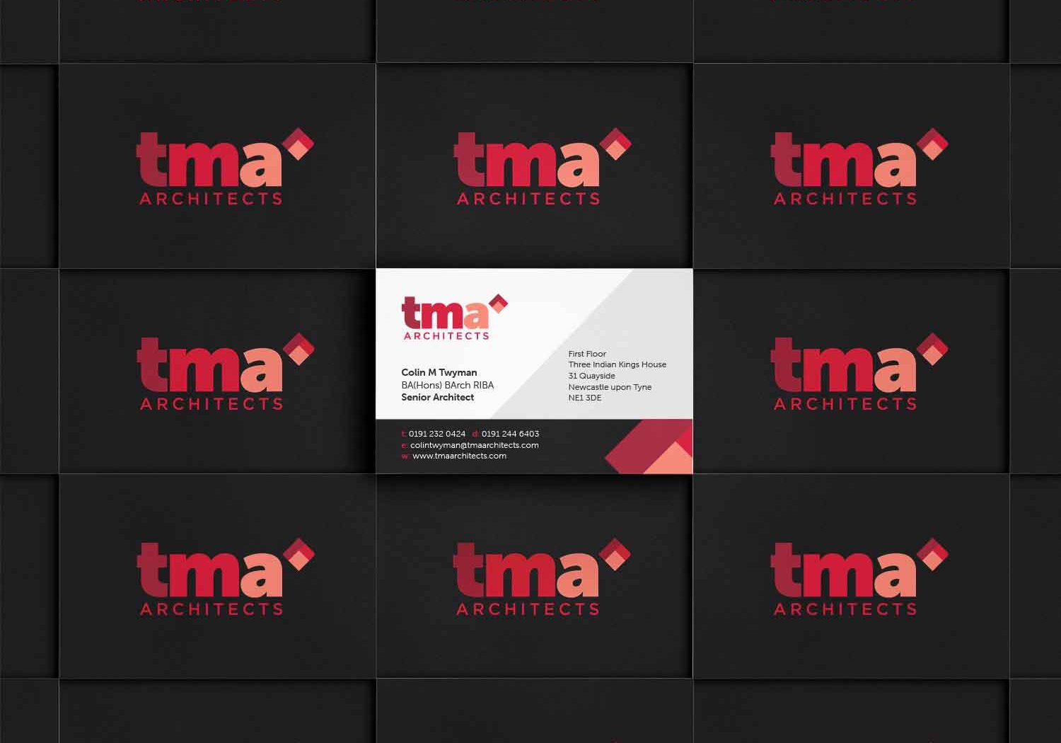 TMA Business Cards Red