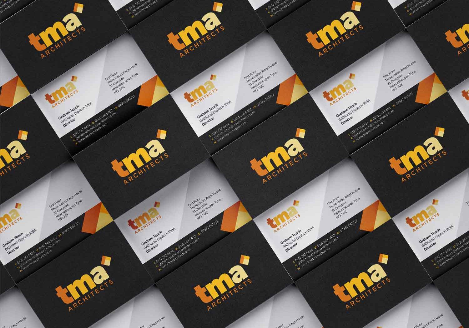 TMA Business Cards Yellow